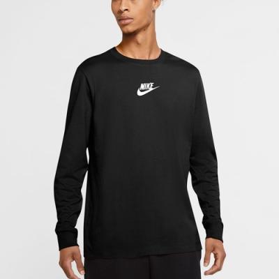 NIKE 上衣 長袖上衣 大學T 運動 慢跑 健身 男款 黑 CU7391010 AS M NSW LS TEEJDISTICKRREPEAT