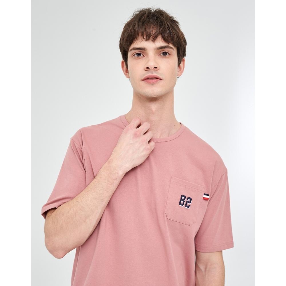 CACO-數字電繡口袋T-男【WAR030】
