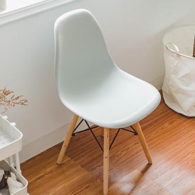 樂嫚妮 北歐復刻餐椅/椅子/休閒椅/辦公椅-淺灰