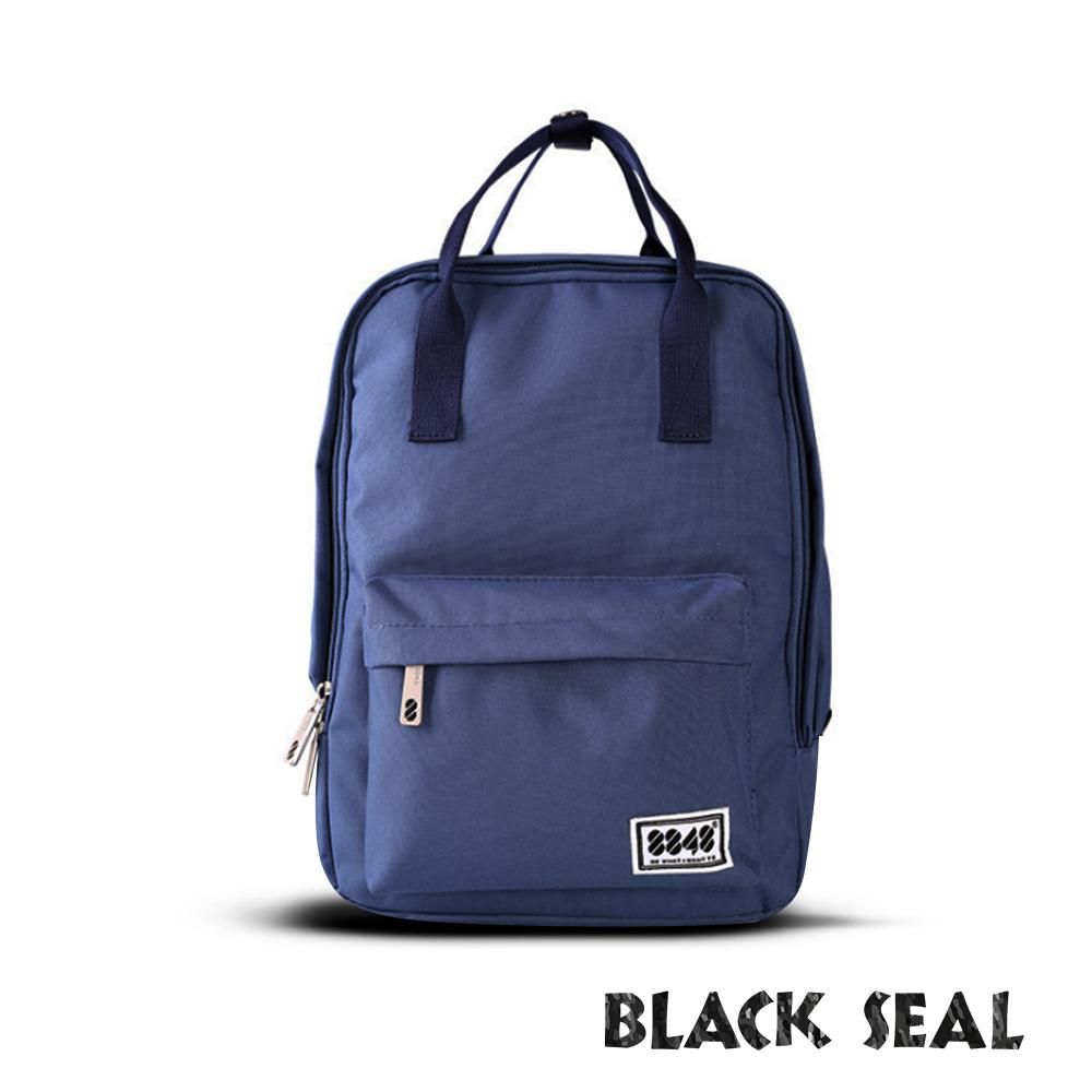 BLACK SEAL 聯名8848系列-多隔層休閒小方型後背包-黛藍BS83008