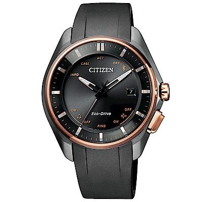 CITIZEN 藍芽光動能萬年曆鈦金屬腕錶(BZ4006-01E)