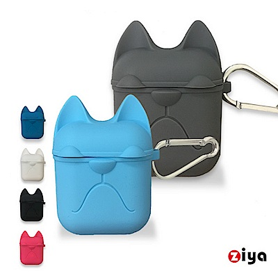 [ZIYA] Apple AirPods 矽膠保護套與矽膠防丟繩組合 可愛鬥狗款