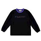 FILA KIDS 童吸濕排汗長袖上衣-黑 1TES-8302-BK