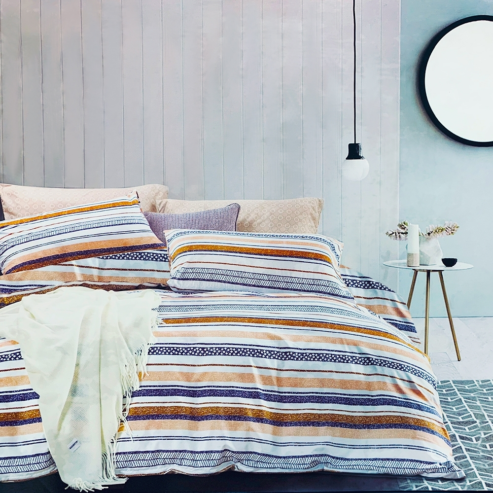 Goelia 幸福依戀 親膚舒柔活性印染超細纖雙人床包枕套三件組