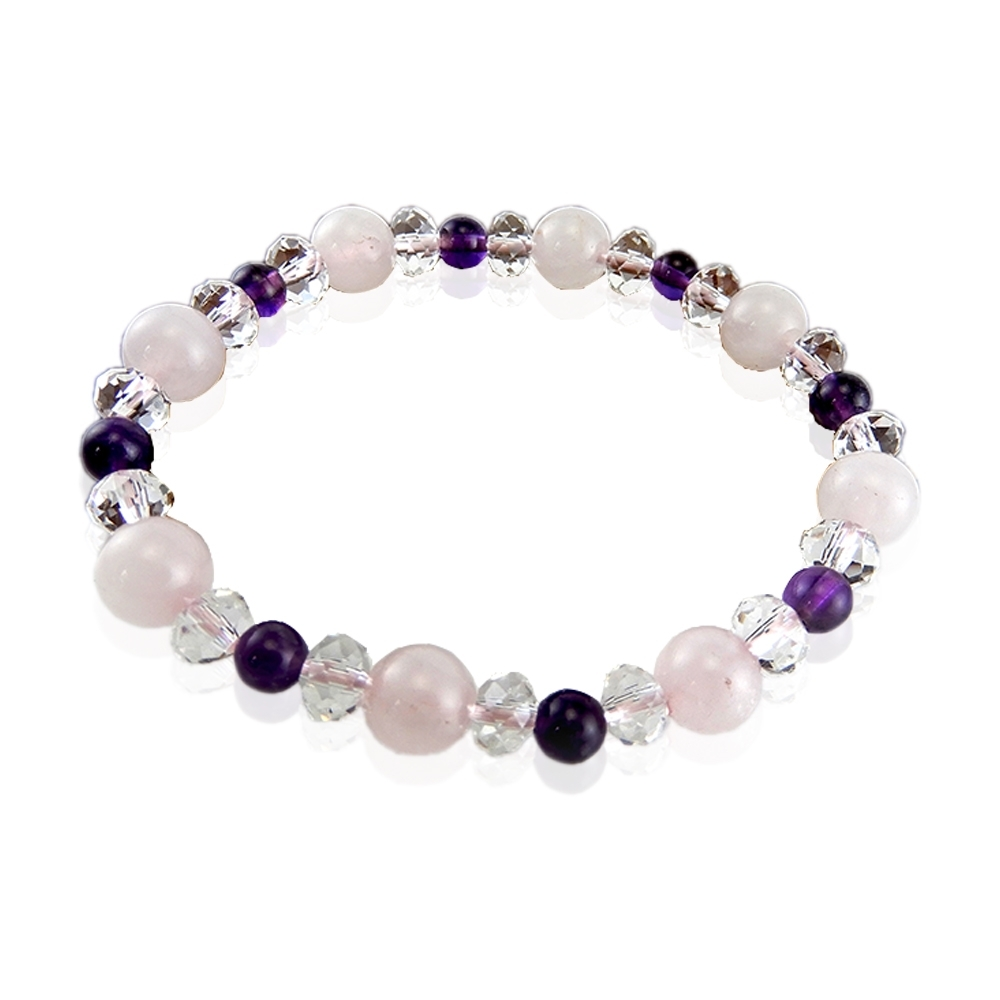 GemMaker頑石睛萃 桃花粉晶紫水晶手珠