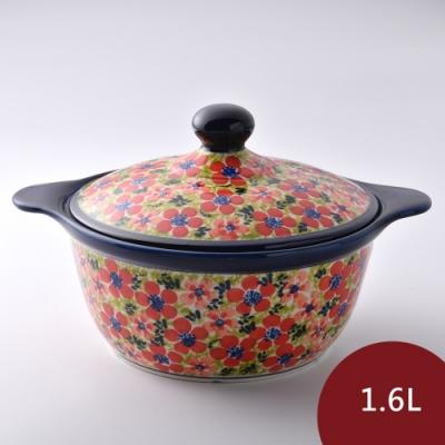 波蘭陶 繁花艷野系列 陶鍋 1.6L 波蘭手工製