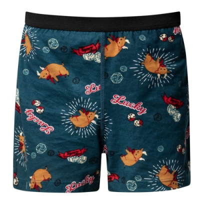 DADADO-牛轉好運到 110-130男童內褲(藍綠) 品牌推薦-舒適寬鬆
