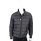 MONCLER 深灰色羊毛拼接絎縫羽絨外套(男款)