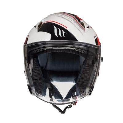 MTHELMETS MT安全帽 AVENUE sv SIDEWAY系列紅白色