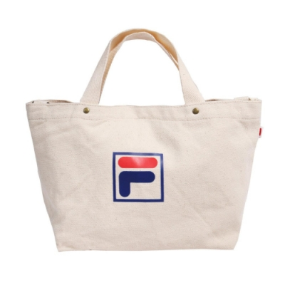 Fila 手提包 Canvas Bag 運動休閒 男女款 斐樂 兩用包 斜背 外出 輕便 帆布 米 藍 紅 BMU9009WT