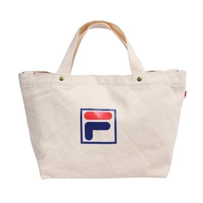 Fila 手提包 Canvas Bag 運動休閒 男女款 斐樂 兩用包 斜背 外出 輕便 帆布 米 藍 紅 BMU9010WT