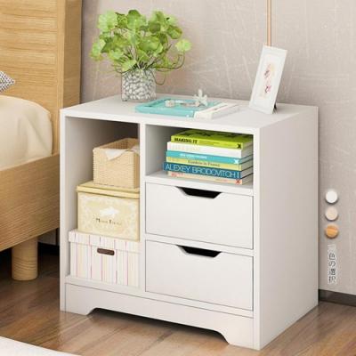 【Incare】多功能臥室床邊抽屜收納櫃(3色可選)