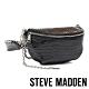 STEVE MADDEN-BMANDIE 時尚金屬鍊條壓紋個性腰包-黑色 product thumbnail 1