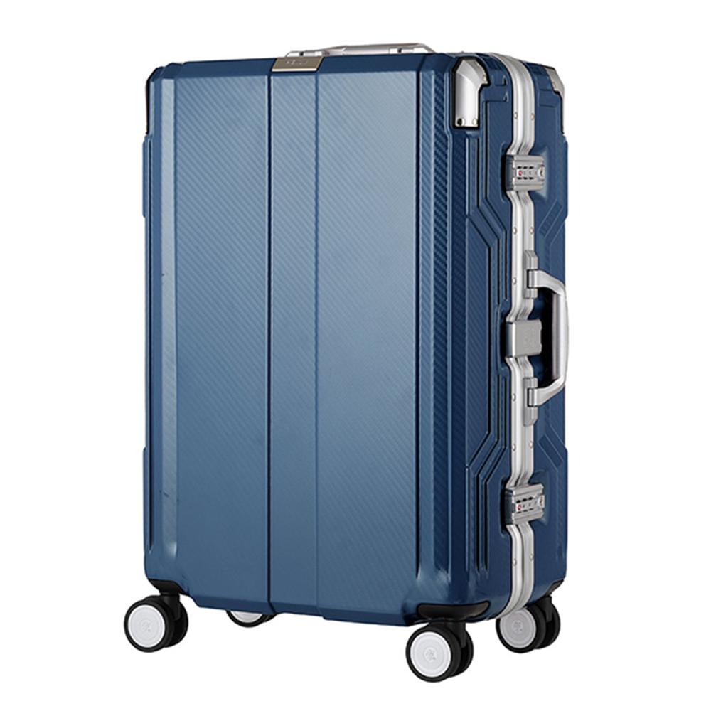 日本LEGEND WALKER 6720-68-28吋 發光圓環把手行李箱 歐洲藍