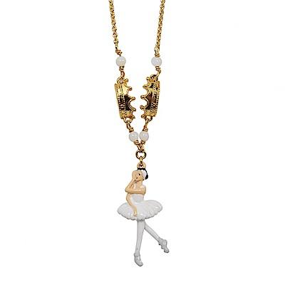 Les Nereides N2 優雅芭蕾舞女孩系列 白色天鵝湖 閃耀皇冠項鍊