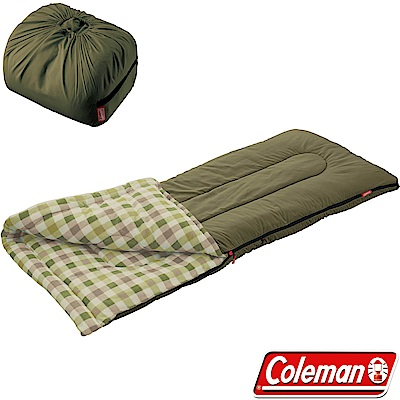 Coleman 33802橄欖葉 EZ刷毛睡袋 適溫0度戶外睡蛋/露營化纖寢袋/保暖毯