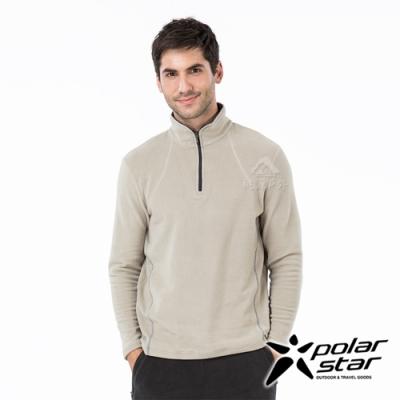 PolarStar 中性 高領拉鍊保暖衣『沙灰』P19209