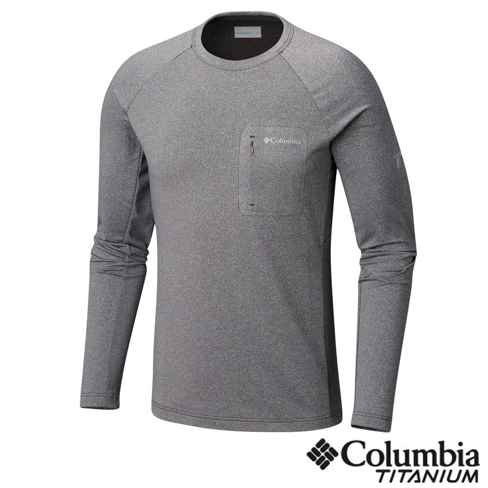 Columbia 哥倫比亞 男款- 鈦 防曬50快排長袖上衣-黑色