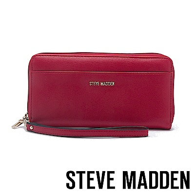 STEVE MADDEN-BDELIA-W-優雅素面壓紋百搭長夾-紅色