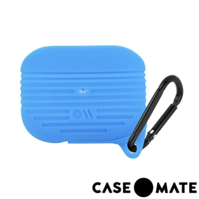 美國 CASE●MATE AirPods Pro 軍規防摔防水保護套 - 藍色 贈掛環