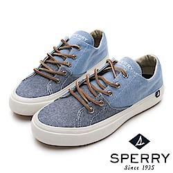 SPERRY 雙色拼接潮流帆布鞋(女)-牛仔淺藍