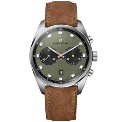 Favre-Leuba 域峰錶 Sky Chief Chronograph 雙眼機械計時手錶(00.10202.08.27.50)