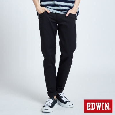 EDWIN 503 BASIC 基本純色 AB休閒褲-男-黑色