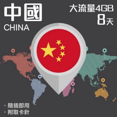 【PEKO】中國上網卡 8日高速4G上網 4GB流量 優良品質