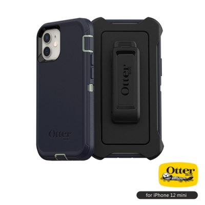 OtterBox iPhone 12 mini (5.4吋)專用 防刮防塵防摔手機保護殼-Defender防禦者系列■藍