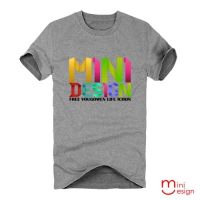 (男款)摺紙字母潮流短T男設計短T 三色-Minidesign