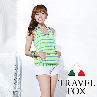 TRAVEL FOX大女長版四件式泳衣