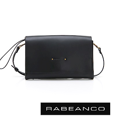 RABEANCO M.LOVE 可調式斜背手拿迷你包 黑