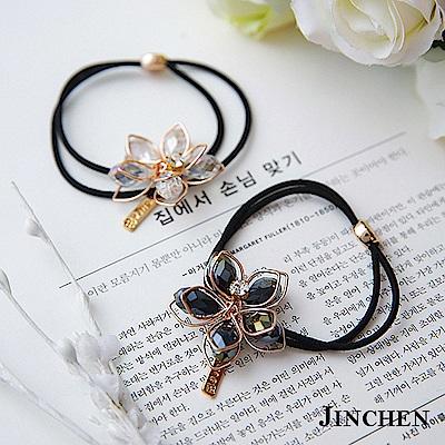 JINCHEN 韓系水晶花朵  髮圈 髮繩 髮束
