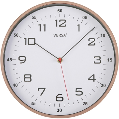 《VERSA》鏡亮掛鐘(玫瑰金30.5cm)