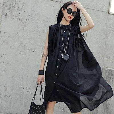 設計所在Style-韓版夏季半透中長襯衫中長版洋裝