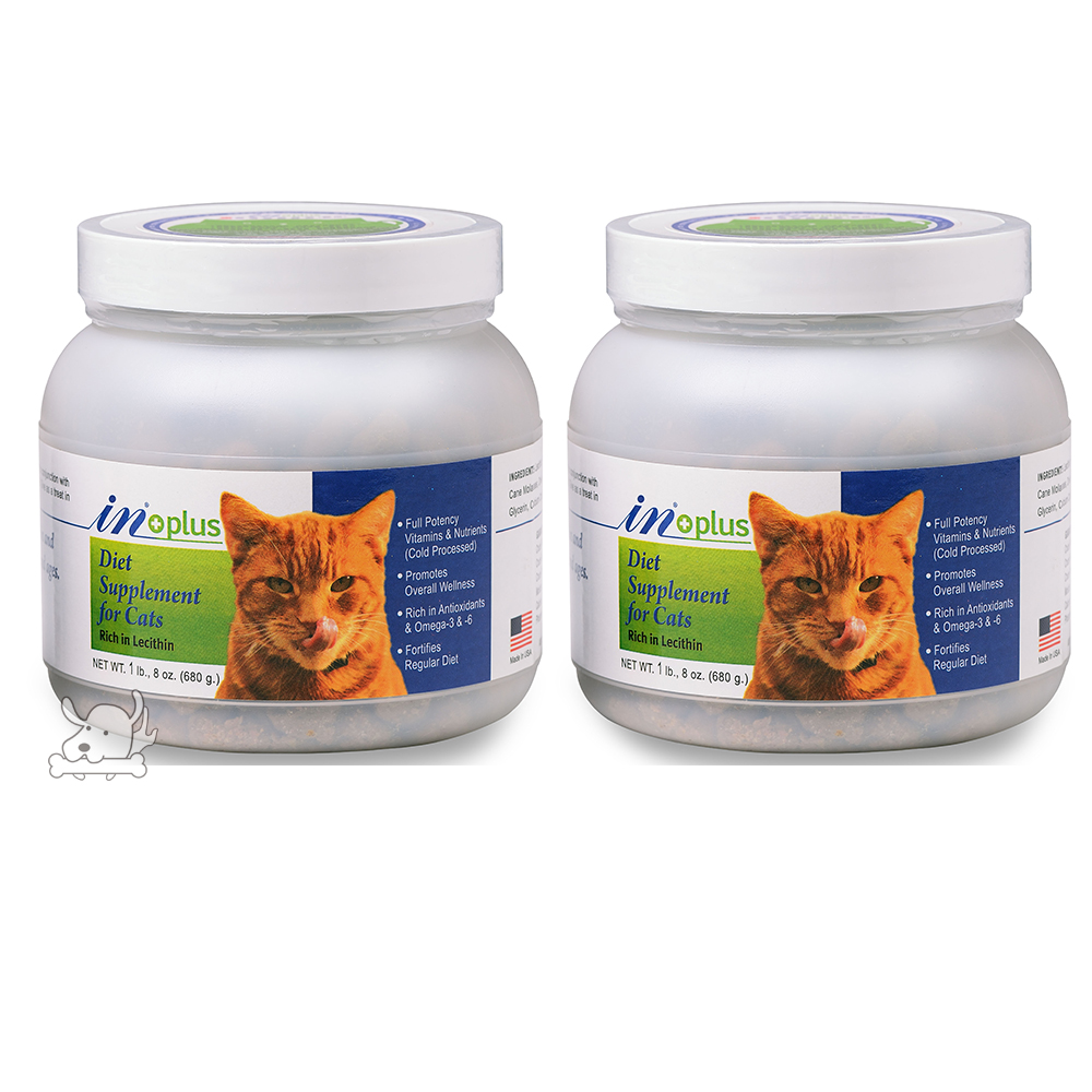 IN-PLUS 贏 貓用 超濃縮卵磷脂 大-1.5磅(680g) 2罐組