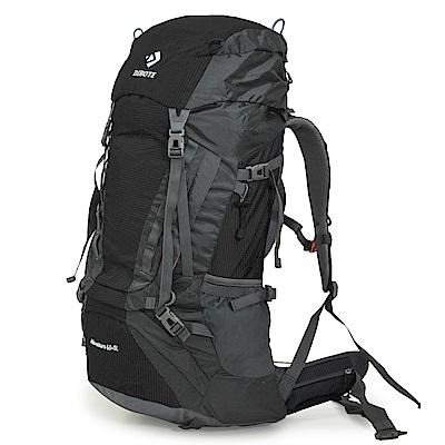 迪伯特DIBOTE 人體工學60+5L登山背包/登山包 (黑)
