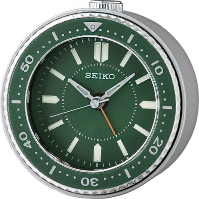 SEIKO 精工 綠水鬼 造型鬧鐘(QHE184M)-綠