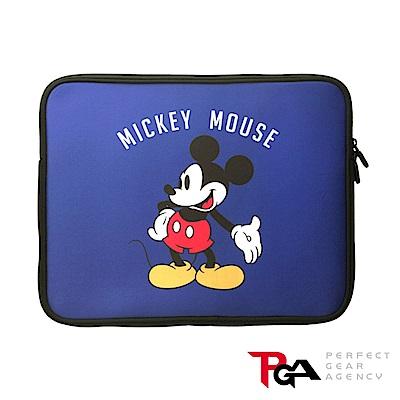 迪士尼 13.3吋筆電/平板防潑水 減震 保護袋 收納袋-米奇(藍)