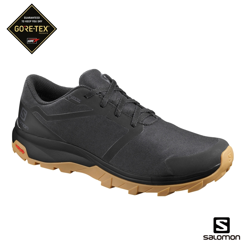 Salomon 男 GORETEX 低筒登山鞋 OUTbound 黑