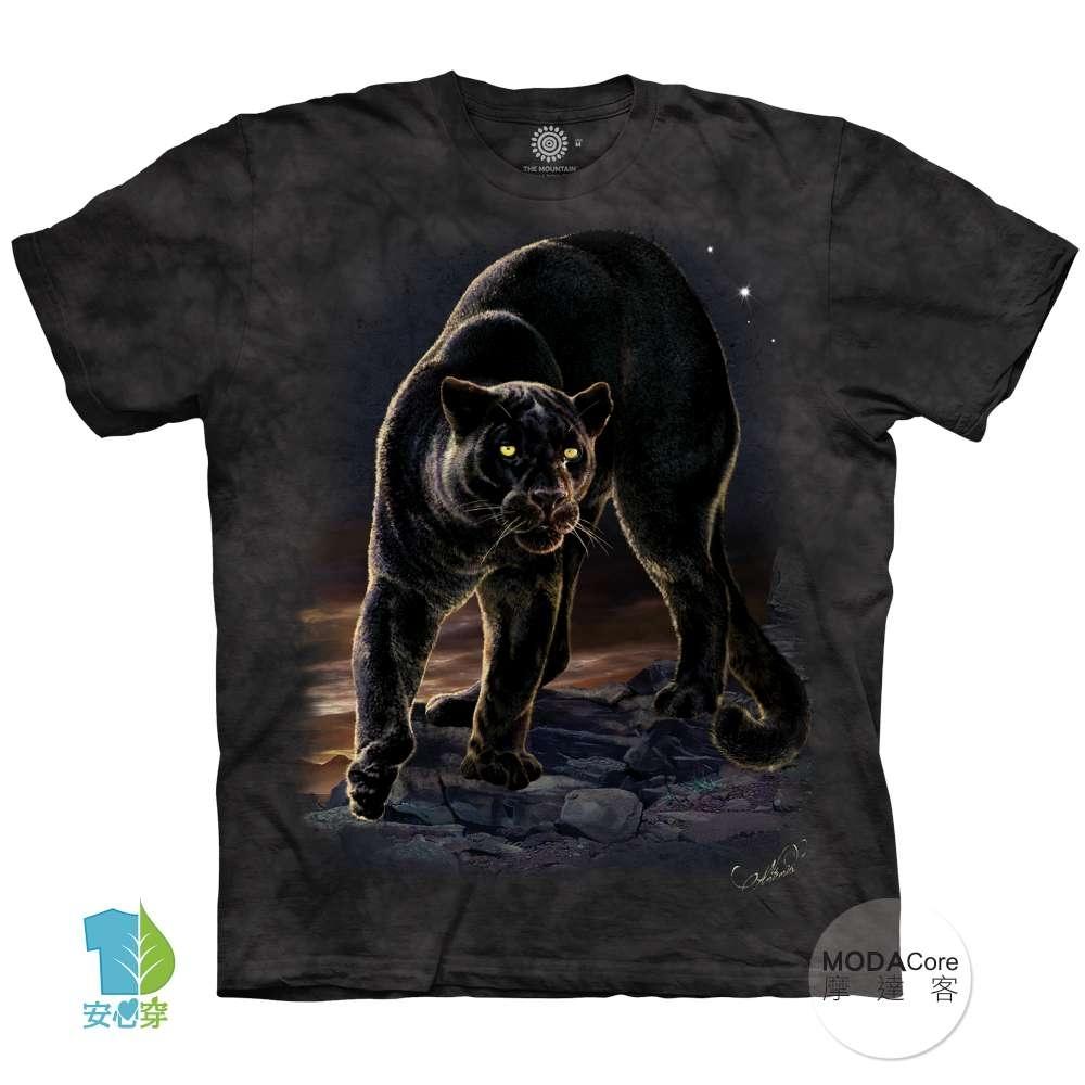 摩達客-美國進口The Mountain 黑豹像 純棉環保中性短袖T恤