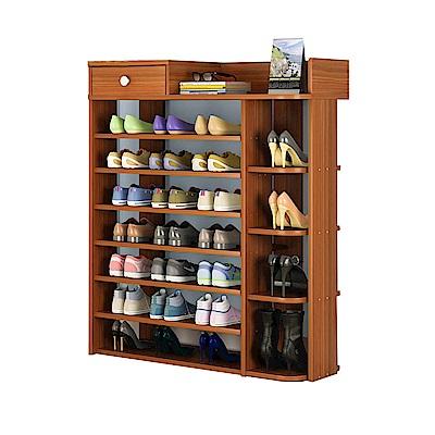 【Effect】百搭多格大容量收納鞋櫃(8層/3色可選)