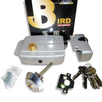 LG001 鳥牌 BIRD 電鎖 正鎖 內開型 鋁製 斜鎖舌 自動鐵門鎖 鐵門鎖 機械鎖