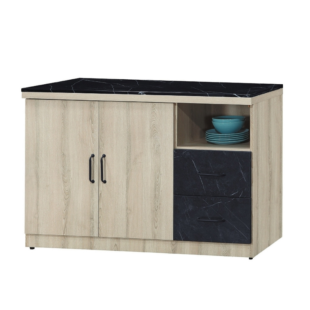 MUNA 亞倫4尺餐櫃/碗盤櫃(710)(石面) 121X40X83cm
