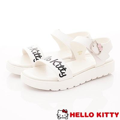 HelloKitty童鞋 輕量柔軟中底涼鞋款 EI19239白(大童段)