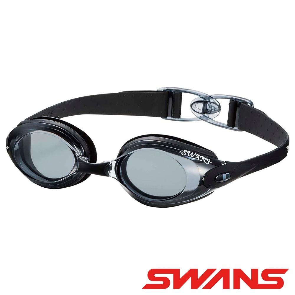 【SWANS 日本】專業光學柔軟舒適型泳鏡(防霧/抗UV/矽膠 SWB-1黑)