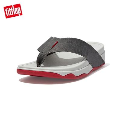 【FitFlop】SURFER TOE-POST SANDALS 經典夾腳涼鞋-男(錫灰色)