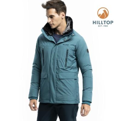 【hilltop山頂鳥】男款WS保暖蓄熱羽絨短大衣F22M01壁毯綠