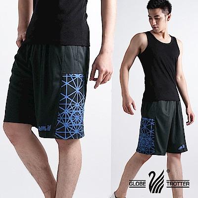 【遊遍天下】MIT台灣製男款時尚休閒運動短褲P121黑藍