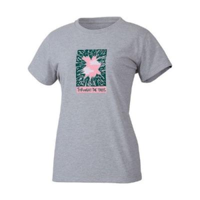 MILLET 女 HUGO TREE&CLOUD 排汗短袖T恤 灰-MIV017884809